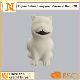 Batería guarra del gato de cerámica Paintable para el regalo de escritorio