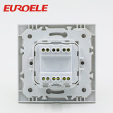Europe Series PC White 2 Gang Wall Switch