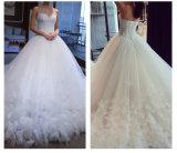 2017着の水晶オーガンザの花嫁の人魚のウェディングドレス6833