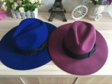 Chapéu de lã de cowboy para homem Chapéu Fedora de estilo australiano