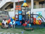 Spiel-im Freienspielplatz der Kind-im Freien Plastikplättchen-Vergnügungspark-Geräten-Kinder
