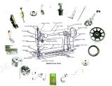 Peças de máquina de costura overloque de cão (118-86504)