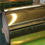 Feuille de bobine en aluminium fini miroir en argent