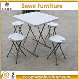 Портативный пластичный складной столик с конструкцией мебели стула
