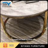Móveis para sala de estar Mesa de café redonda de ouro
