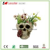Cráneo Polyresin decorativas macetas para Hogar y Jardín Decoración