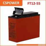 Armazenamento solar acidificado ao chumbo terminal da bateria 12V50ah da parte dianteira do fabricante FT12-50