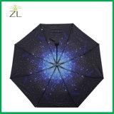 カスタム十分に内部プリントデザイン高品質の普及した星座のマップの星の夜空の傘の日よけ