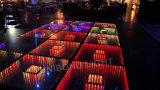 Shopping Corridor 3D LED Dance Floor para conferência de festa e produção enorme