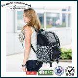 シマウマ様式によって印刷される旅行トロリーはSH17070211バックパックの買物袋をかわいがる