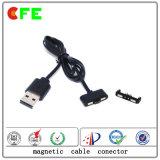 USBの磁気ケーブルコネクタが付いている2pin磁気充満コネクター