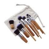 Cepillos de bambú determinados del maquillaje de la maneta del PCS del profesional portable sintetizado 11