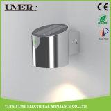 Lámpara al aire libre del LED del acero inoxidable del jardín de la luz al aire libre solar de la pared
