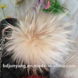 Белый шарик и меха Raccoon мешки фо мех пользовательские формы