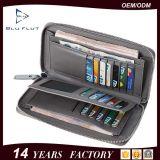 Бумажники сотового телефона большой емкости бумажника пасспорта неподдельной кожи способа