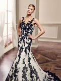 Платье венчания роскошной мантии Mermaid шнурка Bridal безрукавный