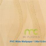 Papel pintado para la decoración casera, papel pintado grabado profundo el 1.06X15.6m del PVC del PVC