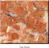 Granito vermelho de China com o corte para fazer sob medida a laje