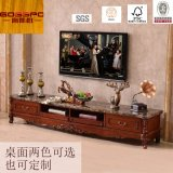 Schrank des Walnuss-festes Holz-Luxus Fernsehapparat-Standplatz-/Fernsehapparat (GSP13-008)
