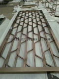 304 Bronze Color Stainless Steel Partition Art Screen Foshan Factory