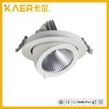 360 정도 돌릴수 있는 끼워넣어진 천장 빛 24W LED 코 램프
