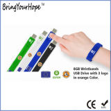 소맷동 주문 실리콘 USB 팔찌 (XH-USB-031)