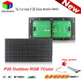 Im Freien farbenreiche der LED-P20 Pixel 16*8 Bildschirmanzeige-Baugruppen-320*160mm für P20 im Freien RGB Tür-Kopf blenden Farben-Bildschirm