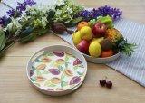 Bambusfaser-Küchenbedarf-rundes Tellersegment mit gedruckt