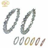 De zilveren Oorring van Juwelen 3A CZ voor Vrouw met Echt Zilver 925 (E6953C)