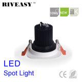 10W Aliuminum COB LED noir carré Downlight Led d'éclairage LED Spotlight
