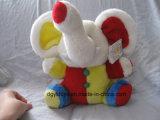 Het kleurrijke en OnderwijsStuk speelgoed van de Olifant van de Pluche