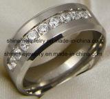 Shinemeの宝石類の高品質の熱い販売のチタニウムの宝石類のリング(TR1857)