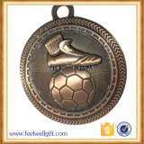 顧客デザイン青銅亜鉛合金のフットボールの試合メダル