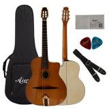 Guitarra oval Handmade do cigano do furo sadio de Aiersi