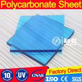 Листа листа полости поликарбоната PC SGS рифленый лист Approved твердого UV Coated