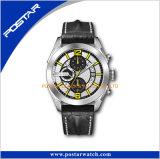 Dernière conception Or Rose Montre en Acier Inoxydable montre-bracelet spécialisés en cuir