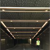 Panneau de plafond acoustique perforé en métal