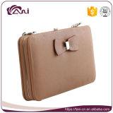 Бумажник PU конструкции способа цвета Brown кожаный для девушки