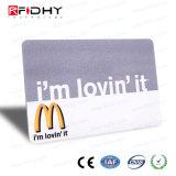 Carnet de socio elegante original de la talla de la tarjeta de crédito MIFARE 1K RFID