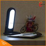 Lampe de table solaire portable multifonction 12 LED Lampe de bureau solaire