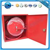 Het rode Kabinet van de Spoel van de Brandslang van het Metaal
