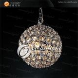 Lampe pendante légère pendante en cristal RVB Om690 réglable de bille ronde de DEL