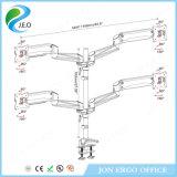 Canalisation verticale réglable de moniteur de bride de bureau de la hauteur Ys-Ga48u d'étalage d'écran d'ordinateur de Jeo quatre