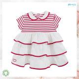 Белое платье младенца хлопка одежды 100% младенца органическое
