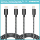 USB tressé en nylon au câble de remplissage de foudre pour l'iPhone 5/6/7