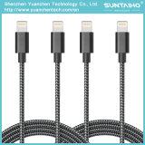iPhone 5/6/7를 위한 번개 비용을 부과 케이블에 나일론 땋는 USB