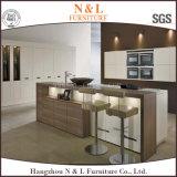 Gabinete de cozinha quente da combinação da venda com tampa de madeira superior