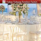 Silla plástica transparente cristalina de Tiffany Chiavari de la resina de acrílico del nuevo del diseño 2017 de la venta al por mayor patio amontonable de la PC para el partido del acontecimiento del banquete de la boda (YC-A168)