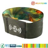 Musikfestival-Ereignisgewebe ntag213 RFID des Zolls 13.56MHz NFC Wristband