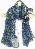 Sciarpa della signora Voile Shawl Fashion Printing per l'accessorio di modo delle donne